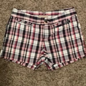 Banana republic plaid shorts sz6 great condition